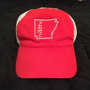 NATIV Arkansas Red Unstructured Trucker Hat